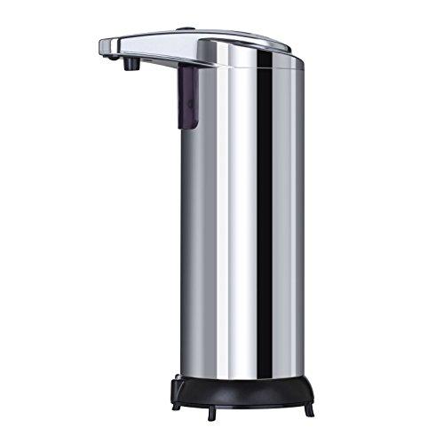 Distributore automatico di sapone,Sobotoo dispenser di sapone in acciaio inox Touchless sensore di movimento a raggi infrarossi IR dispenser di sapone per cucina bagno
