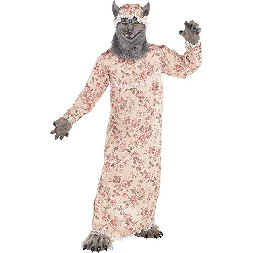 Amscan Dress Up-Disfraz de lobo de la abuela color no sólido, Medium/Large Upto 42-Inch Chest (Amscan International Ltd 847757)