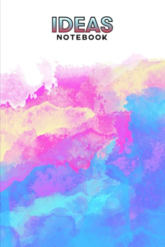Ideas Notebook: Rainbow Watercolor Cover Ideas Notebook, Ideas Journal/Mini Ideas Notebook/Pocket Idea Log Book 120 Pages - Size 6' x 9' by Walther Franz