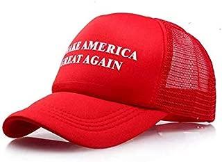 Sunshine Campaign Adjustable Unisex Hat Cap Make America Great Again! Donald Trump Red