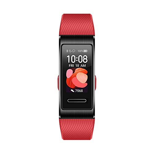 "HUAWEI Band 4 Pro Smart Band Fitness Tracker, Touchscreen AMOLED 0.95"", Monitoraggio Battito Cardiaco, Monitoraggio Scientifico del Sonno, GPS Integrato, Resistente all'Acqua, Cinnabar Red"