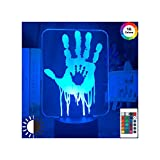 HOKVJ Videojuego Death Stranding Hand Prints 3D Lámpara De Ilusión Led Luz De...