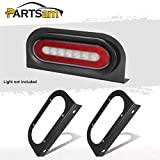 Partsam 2Pcs 6' Oval Tail Light Mounting Brackets [L Shaped] [3mm Powder Coated Steel] [Ultra Sturdy] [Versatile Horizontal Mounting] for 6' Oval Taillights On Truck Trailer RV Grommet Flush Mount