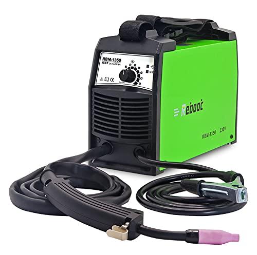 Reboot soldador mig sin gas MIG 135A IGBT 230V±15% 1kg hilo soldar sin gas 0.8mm 0.9mm mini soldadora inverter profesional Especial para principiantes soldadura MIG MAG simple portátil 3 años garantía