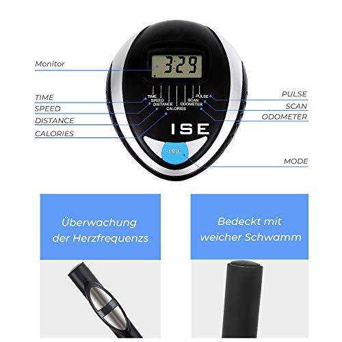 ISE Fahrrad Ergometer Fitness Heimtrainer mit Pulssensoren SY-8801 - 7