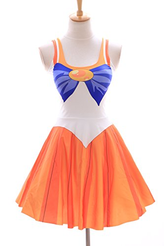 Kawaii-Story SK-01 Gr. S-M Sailor Moon Venus orange Kleid Dress Cosplay Manga Japan Anime