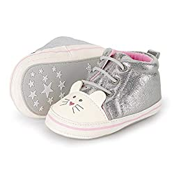 Sterntaler Baby Mädchen Schuh Stiefel, Silber (Silber 513), 17/18 EU