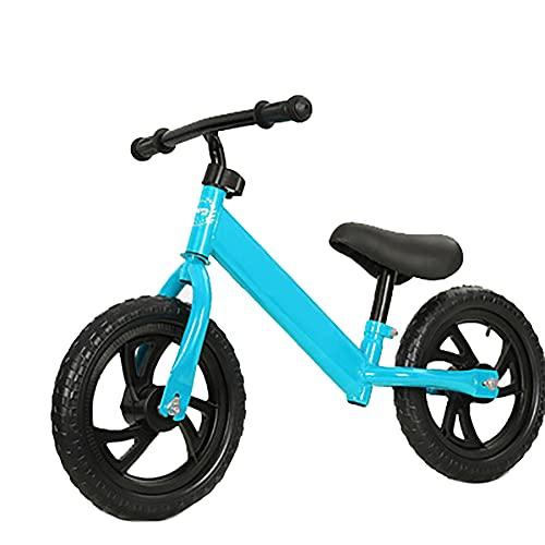 CKCL Equilibrio En Bicicleta, Niños Pequeños a Pie De Bicicleta con Pedales No Altura del Asiento Ajustable Y El Manillar Bicicletas Equilibrio Formación Ligera En 2 3 4 5 De Edad,Azul