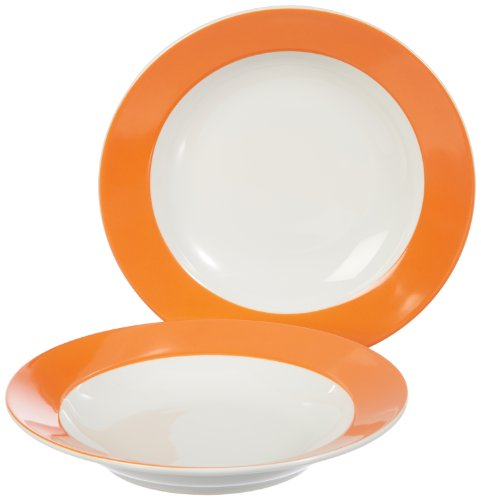 Kahla 57E149A72556C Suppenteller-Set 2-teilig Pronto, orange