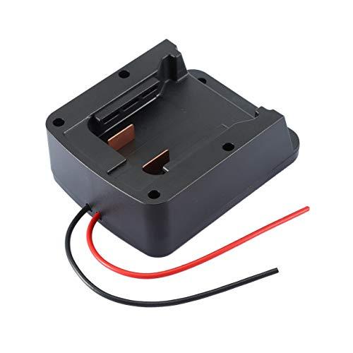 Adaptador de batería de ángulo recto con salida de cableado DIY 2 para conector de alimentación Dock Milwaukee 18V M18 XC18 negro