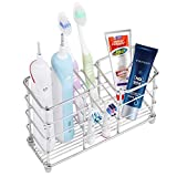 Wimaha Toothbrush Holder for Bathroom, Electric Toothbrush Organizer Large, Stainless Steel Bathroom Storage Accessories Decor, Toothpaste Holder Organizer, Ideal for Shower Sink Washbasin