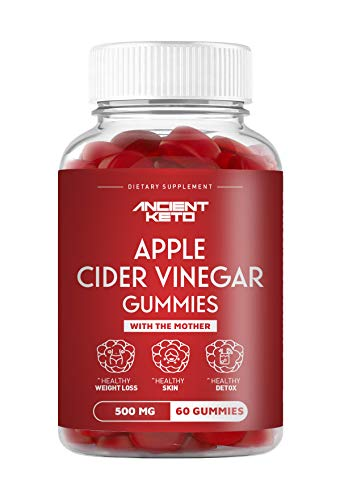 Ancient Keto Apple Cider Vinegar Gummies with The Mother - Supports Healthy Weight Loss, Healthy Skin, and Healthy Detox - 60 Gummies