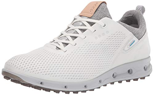ECCO Womens Golf Cool Pro Leather Waterproof Golf Shoes Wh