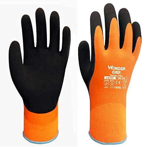 BOUTIQUE1583protezione invernale a doppio strato in lattice, a guanti impermeabili guanti, Uomo donna, Orange