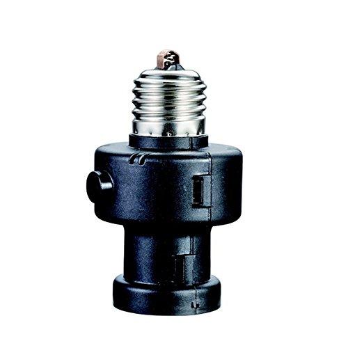 Maclean MCE21B Glühbirnen/Lampenhalter Dämmerungssensor, 100W, 260 Grad schwarz