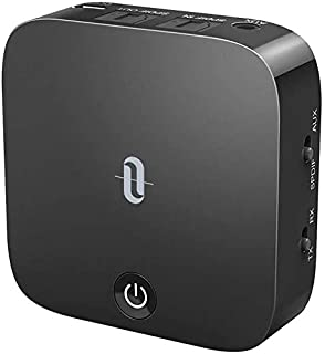 TaoTronics Bluetooth 5.0 Transmitter and Receiver, Digital Optical TOSLINK and 3.5mm Wireless Audio Adapter for TV/Home Stereo System - Low Latency (B07D4L8PH1)   Amazon price tracker / tracking, Amazon price history charts, Amazon price watches, Amazon price drop alerts