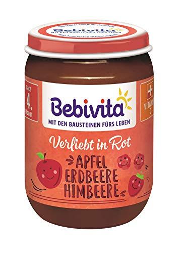 Bebivita Bunte Früchte Rot Apfel-Erdbeere-Himbeere, 6er Pack (6 x 190 g)
