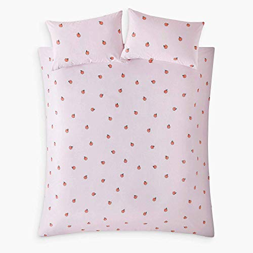 Skinny Dip Peachy Pale Pink Easy Care Double Duvet Cover Set Bedding Bed Set
