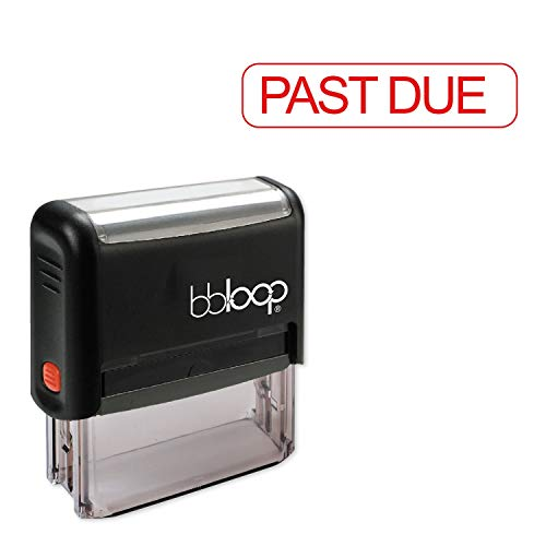 Past Due w/Round Border Style Font and Design Self-Inking Rubber Stamp
