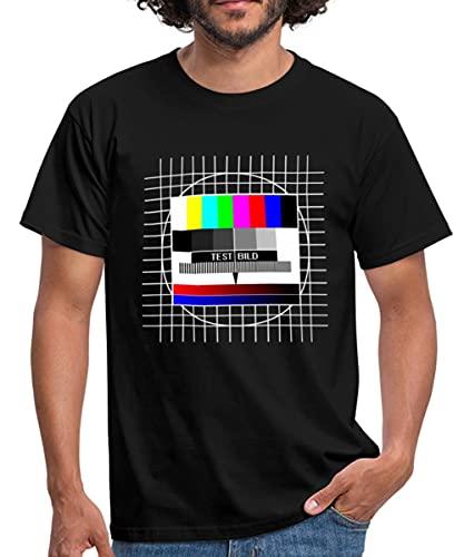 Spreadshirt TV Testbild Männer T-Shirt, XXL, Schwarz