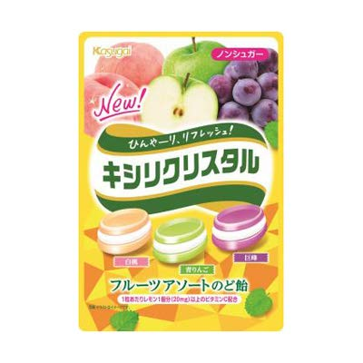 春日井製菓 キシリクリスタル フルーツアソートのど飴(67g) 5コ入り