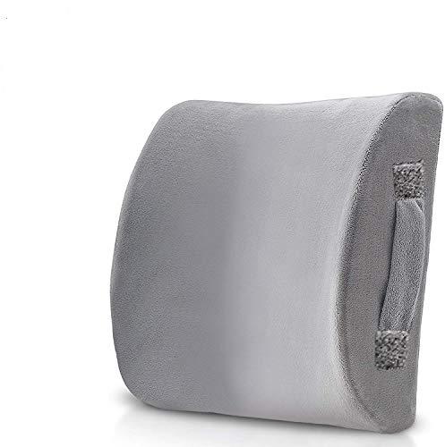 Lumbar Support Pillow seat Cushion - Memory Foam Back Cushion Balanced Firmness...