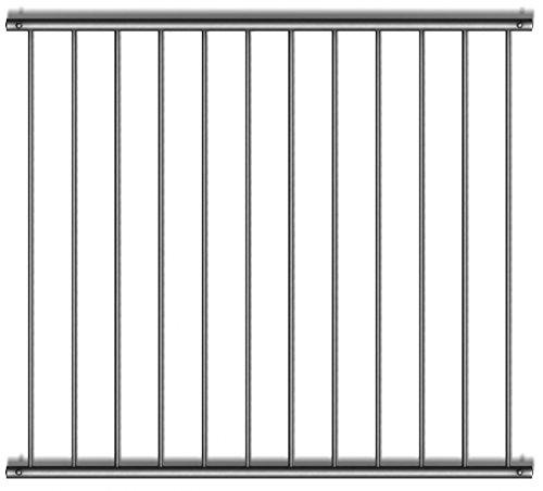 Fenstergitter Variante 1 - Edelstahl geschliffen K240 - frei konfigurierbar Größe Höhe: 1901-2000 mm; Länge: 0-400 mm