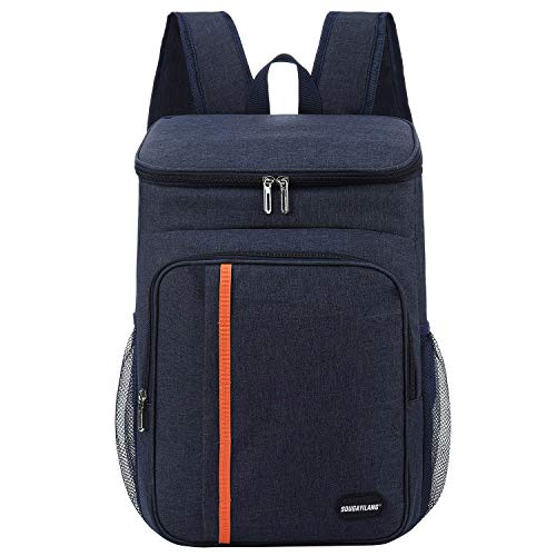 Sougayilang Cooler Backpack 25 Cans Lightweight Insulated Backpack Cooler Leakproof Soft Cooler Bag for Lunch Large Capacity for Men Women to Picnics, Camping, Hiking, Beach, Park-Dark Blue