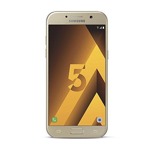 Samsung Galaxy A5 2017 Smartphone portable débloqué 4G (Ecran: 5,2 pouces - 32 Go - Nano-SIM - Android 6.0) Or (Carte SIM européenne...