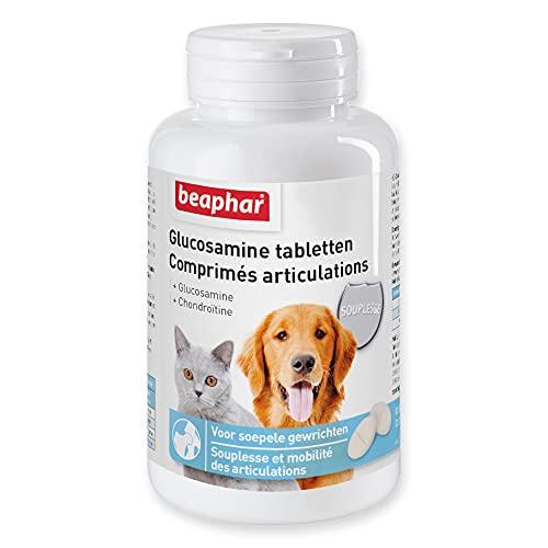 BEAPHAR – Comprimés articulations pour chien et chat – Contient de la Chondroïtine, Glucosamine & vitamine E – Redonne souplesse et mobilité aux articulations – Délicieux goût de viande – 60 comprimés