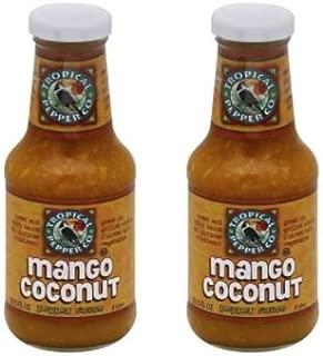 Tropical Pepper Sauce Mango Coconut 10.5 oz (Pack of 2)