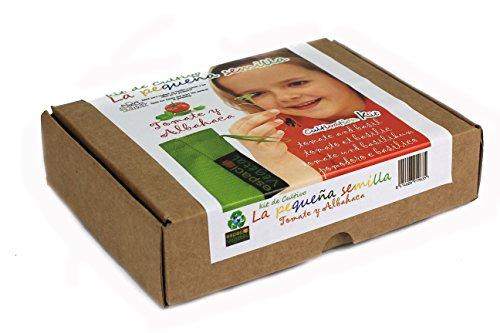 LA PEQUEÑA SEMILLA.Tomate y albahaca. Kit de cultivo.