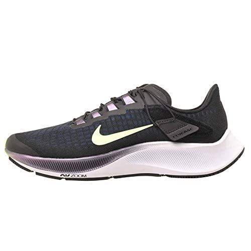 Nike W Air Zoom Pegasus 37 Flyease Casual Scarpe Da Corsa Ck8605-001, Nero (Nero/Fantasma Verde-valeriana Blu), 40 EU