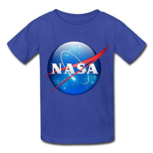 MAM2 6-16 Years Old Tee Shirt Niños, Niñas, Camiseta NASA Siguiente Planeta Logo Negro