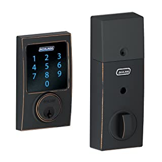 Schlage BE469NXCEN716 Century Touchscreen Deadbolt with Nexia Home Intelligence and Alarm, Aged Bronze (Z-Wave) (Works with Amazon Alexa) (B00CNEE7PU) | Amazon price tracker / tracking, Amazon price history charts, Amazon price watches, Amazon price drop alerts