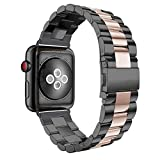 Aottom Cinturino Compatibile con Apple Watch 3 38mm,Ricambio Cinturini Orologio Apple Watch 40mm Donna Uomo Cinturini in Acciaio Inossidabile Smartwatch per iWatch Serie SE/6/5/4/3/2/1, 38mm/40mm