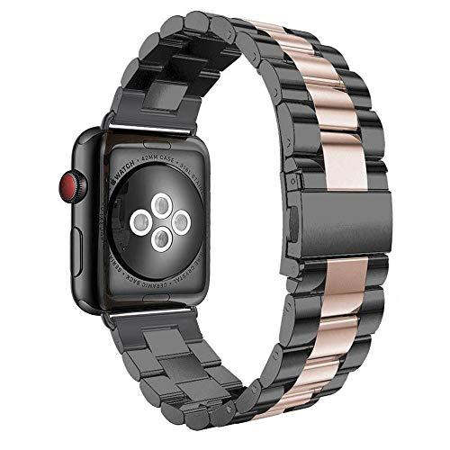 Aottom Kompatibel für Armband Apple Watch 40mm Series 5 Rosegold Edelstahl,Armbänder Apple Watch 40mm Series 4 Armband iWatch 38mm Series 3 Ersatzarmband mit Metal Schließe für Apple Watch 38mm/40mm