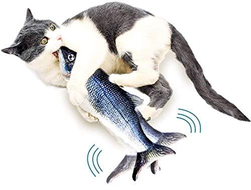 Trendico Katzenspielzeug, Flippity Fish, Katze, Katzen, Katzenspielzeug Fisch, Katzenspielzeug elektrisch, Flippity Fish Katze, zappelnder Fisch für Katzen