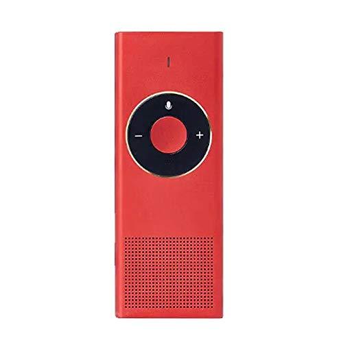 CaoDquan Traductor De Idiomas AI Continua Inteligente de Voz traductor automático Traductor 15 Lenguas 47 Habilidades de Viaje 7 días en Espera 8H (Color : Red, Size : One Size)