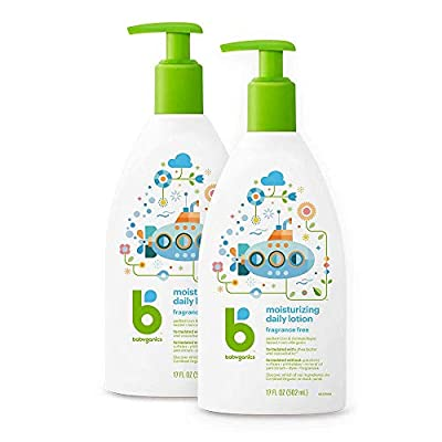 Babyganics Daily Lotion, Fragrance Free, 17oz, 2 Pack, Packaging May Vary from KAS Direct LLC dba Healthy Home Products