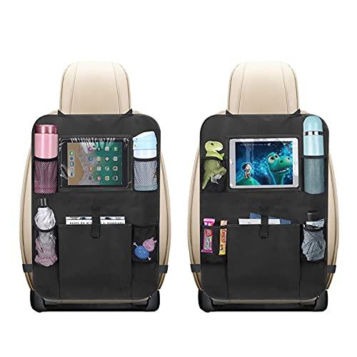 2 protezioni per schienale auto, per bambini, organizer per sedile auto, schienale per bambini, con custodia per tablet, impermeabile multifunzione
