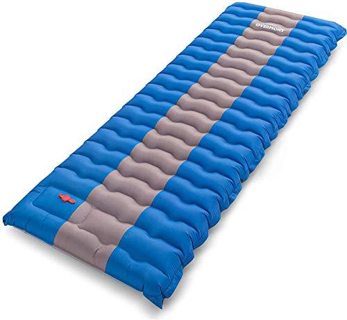 Overmont Camping Isomatte 12cm Dick für Camping Wanderungen Backpacking Reisen Zelte Strand Blau