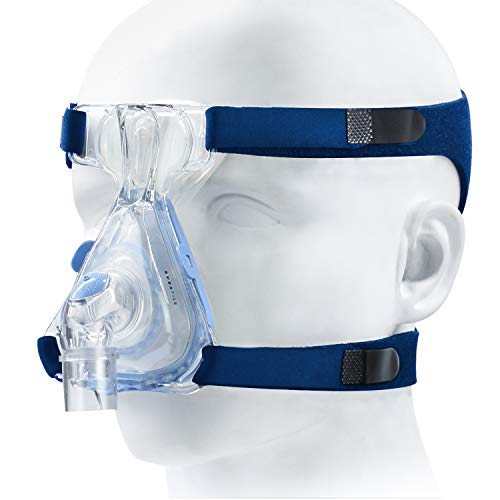 2 Packs Universal Headgear for Various Masks, Standard Mask Strap with Stronger Vel-cro and Elasticity, Adjustable Headgear Strap for Comfortable Fit & Seal, Blue (Headgear Only)