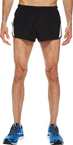 "Brooks Go-to 2"" Split Shorts Black/Sterling SM"