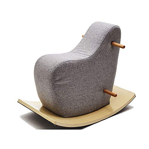NXYJD Wooden Dolls Rocking Horse Baby Ride One Toys Rocking Wooden Horse for Children's Room Accessories (Color : Gray)