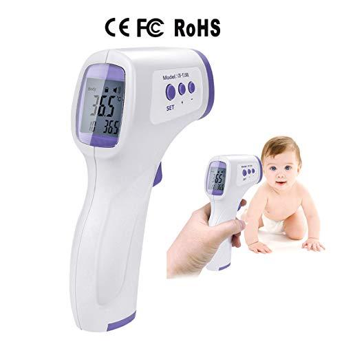 Termómetro de Frente, 2 Piezas sin contacto lecturas precisas instantáneas, termómetro Digital infrarrojo Digital sin Contacto, para bebés, niños, Adultos