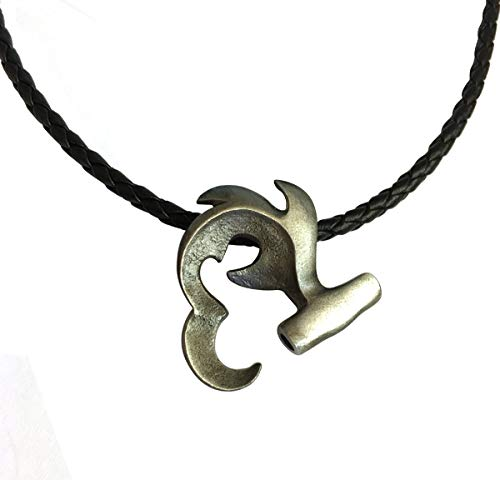 House of Scuba Hammerhead Pewter Pendant on 18' Braided Cord Necklace Big Blue Ocean Nautical Jewelry Special
