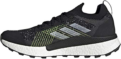 adidas Men's Terrex Two Ultra PRIMEBLUE Trail Running Shoe, Core Black/FTWR White/Solar Yellow, 12 UK