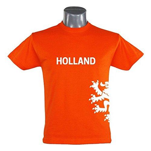 T-Shirt Holland Löwe Kinder orange Gr. 94-164 - Fanshirt Fanartikel Fanshop Fußball WM EM Germany