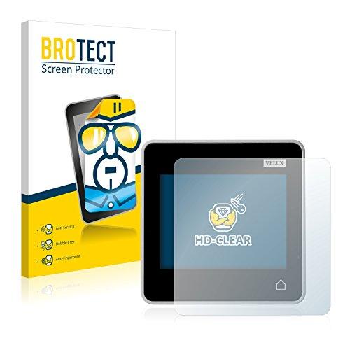 BROTECT Schutzfolie kompatibel mit Velux Integra Control Pad KLR 200 (2 Stück) klare Displayschutz-Folie